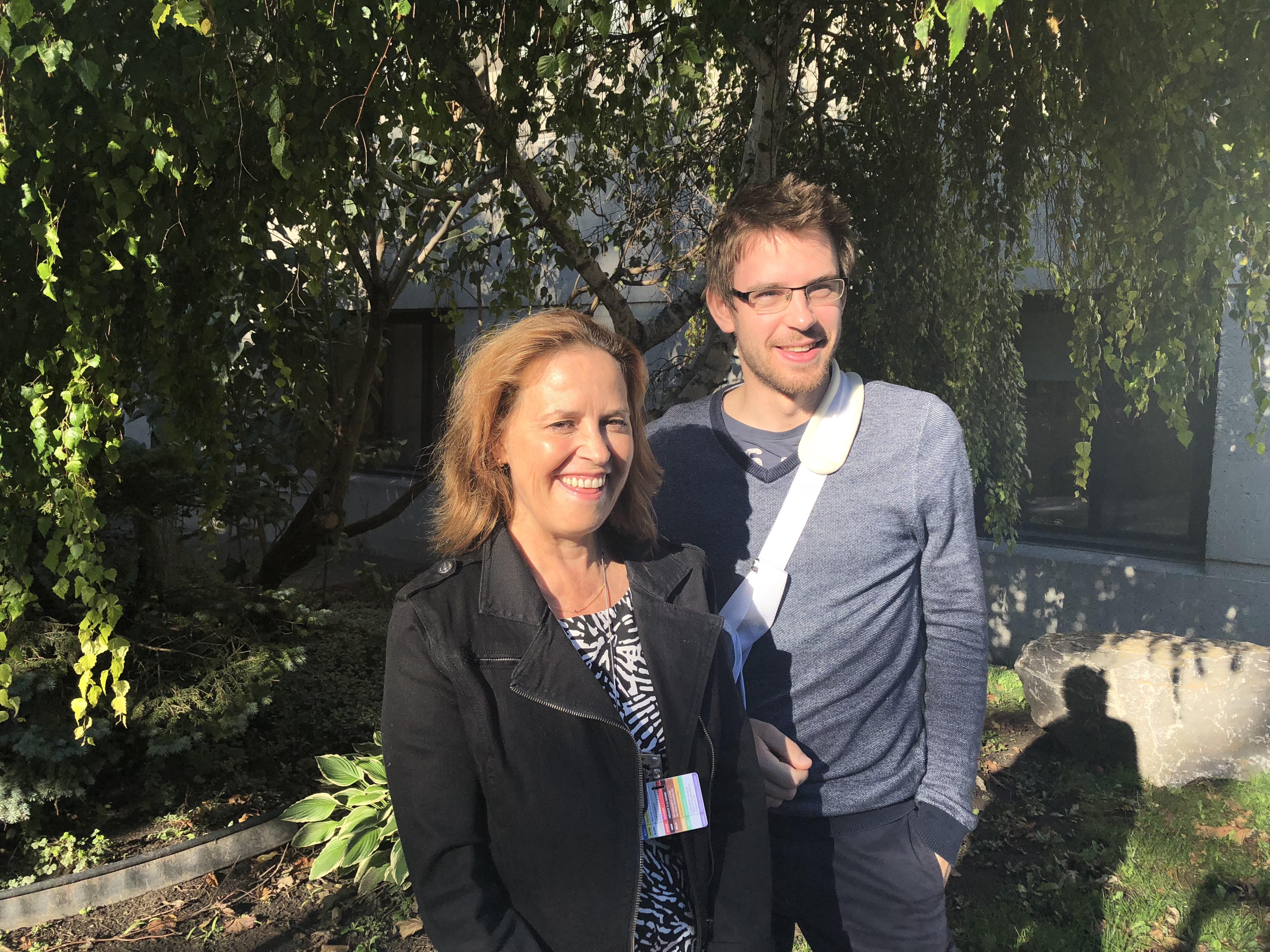 Marie-Claude Pelletier et Alban Pilard du Quartier des générations